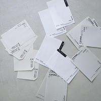 M-003   いろいろな紙のメモセット  /  クロ
