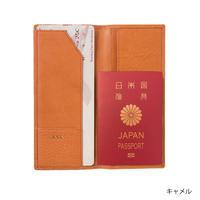 KSKパスポートケース(コバルト/レッド/キャメル)