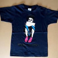 モンドくんTシャツ|すわりモンドくん|ネイビー