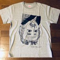 モンドくんTシャツ|逆さアインシュタイン|グレー