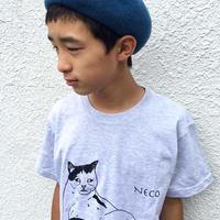 モンドくんTシャツ|しどけない猫|グレー