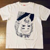 モンドくんTシャツ|逆さアインシュタイン|ホワイト