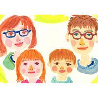 【4名さま用】2021年9月15日-26日 村田エミコ 水彩似顔絵 参加費