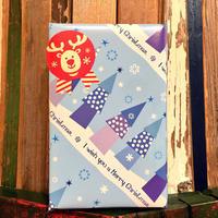 【12月25日まで無料】ギフトラッピング(クリスマスブルーツリー柄)