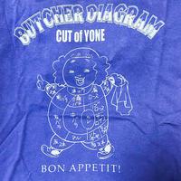 米山香織Tシャツ「BUTCHER DIAGRAM」