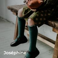 【Collégien】Joséphine - Lace-Trim Ribbed Knee-high Socks《納期:11月上旬 〜 中旬頃》