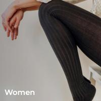 【Collégien】Céline - Women's Ribbed Tights 大人サイズ《納期:11月上旬 〜 中旬頃》