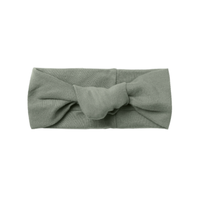 【QUINCY MAE】KNOTTED HEADBAND | BASIL