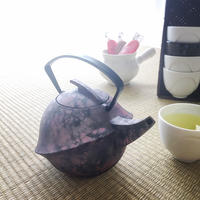 YOnoBI 鋳物ティーポット【KABUTO Ⅱ】  レーバーピンク