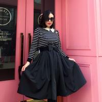 ◆高級感あり◆ドレススカートSEASON2【ウエストゴム&立体感あり】