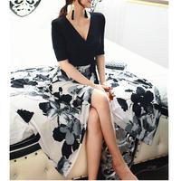 ペルシャブラックラップドレス