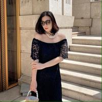 【72時間限定1000円OFF】女優レースワンピース【デコルテ2way】