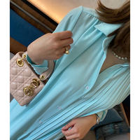 ラグジュアリープリーツシャツドレス【ベルトセット】