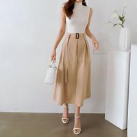 美脚スカートパンツ【スカートに見えてインナーはパンツ仕様】◆高級感あれるブティックライン◆