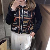 パリスレディスカーフカーディガン【高級感あり】