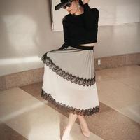 ブラックレーススカート