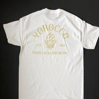 LOGO Tシャツ ホワイト×VEGAS GOLD