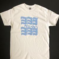 ヨ6コTシャツ ホワイト×UNIVERSITY BLUE
