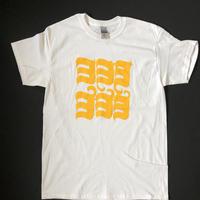 ヨ6コTシャツ ホワイト×LIGHT GOLD