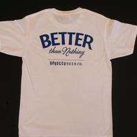 BETTER than Nothing Tシャツ White X ROYAL BLUE