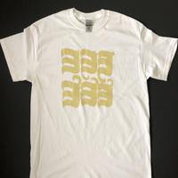 ヨ6コTシャツ ホワイト×VEGAS GOLD
