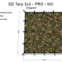 DD タープ Tarp 3x3 - PRO プロ - MC (マルチカム)