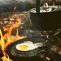 ムーリッカ フライパン キャンプファイヤー 焚き火