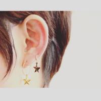 真鍮のピアス・イヤリング  星