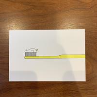 ポストカード〈歯みがき粉〉