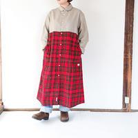 レディース*快晴堂-カイセイドウ-タータンチェック切替ワンピース(93OP-09)