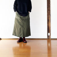 *レディース*TIGRE BROCANTE-ティグルブロカンテ-ツイルMIXファティーグロングスカート