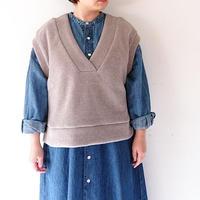"""*レディース*KELEN-ケレン-Wide knit vest """"Asui"""" ワイドニットベスト(LKL19WBL5)"""