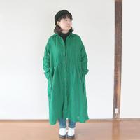 *レディース*OMNIGOD★オムニゴッド★リネンキャンバスワイドワークドレス (57-589X)グリーン