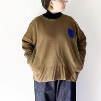 全2色*レディース*快晴堂- Girl`sセーター リングウールポケットビックセーター 13K-43