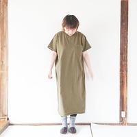 レディース*GoodWear-グッドウェア-Pocket Long Onepiece /オリーブ