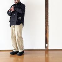 *ユニセックス*H.UNIT-エイチユニット- Typewriter ecobag long sleeves shirt/ブラック