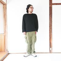 ユニセックス*LA MOND.-ラモンド-Rib W/Face Pullover(LM-C-100)/ダークネイビー 男性着用