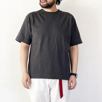 *ユニセックス*modem design-モデムデザイン-バイオウォッシュ 10oz USA コットン Tシャツ/チャコール