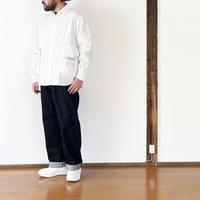 *ユニセックス*H.UNIT-エイチユニット- Typewriter ecobag long sleeves shirt/ホワイト