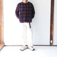 ユニセックス*快晴堂-カイセイドウ-タータンチェックエルボー・Tシャツ(93S-08B)  男性着用