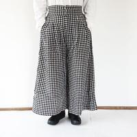 "Kelen-ケレン-Wide Trouser""Tic Check"" ワイドチェックトラウザーパンツ"