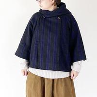 *レディース*SLOWHANDS-スローハンズ-ウールメルトン marine hooded Put on jacket/old school Stripe別注カラー