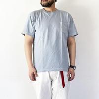 *ユニセックス*modem design-モデムデザイン-USAコットン 硫化染めTシャツ/ブルー