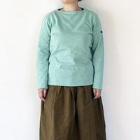 女性着用画*ユニセックス*Tieasy Authentic Classic-ティージー-HDCS BOATNECK BASQUE SHIRT(te001)/Lt.Green