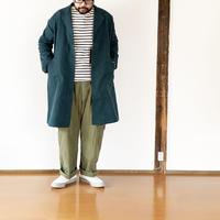 ユニセックス*NAPRON★-プロン-綿麻生地 ATELIER WORK COAT ver3/ブルー