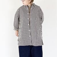 全2色レディース*prit-プリット-ヒッコリーストライプレギュラーカラービッグシャツ P80240