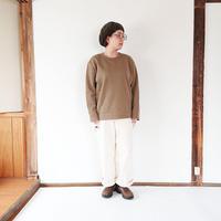 ユニセックス*LA MOND.-ラモンド-Rib W/Face Pullover(LM-C-100)/カーキグレイ