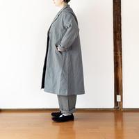 女性着用画 ユニセックス*NAPRON-ナプロン-綿麻生地 ATELIER WORK COAT ver3/グレー