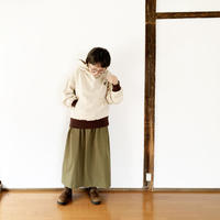 レディース*KAFIKA-カフィカ-HIGH DENSITY WEATHER CLASSICAL DRESS SKIRT/オリーブ