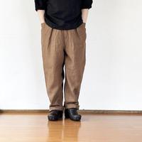 *ユニセックス*SLOWHANDS-スローハンズ- fine linen poofy tack pants / パフィータックパンツ
